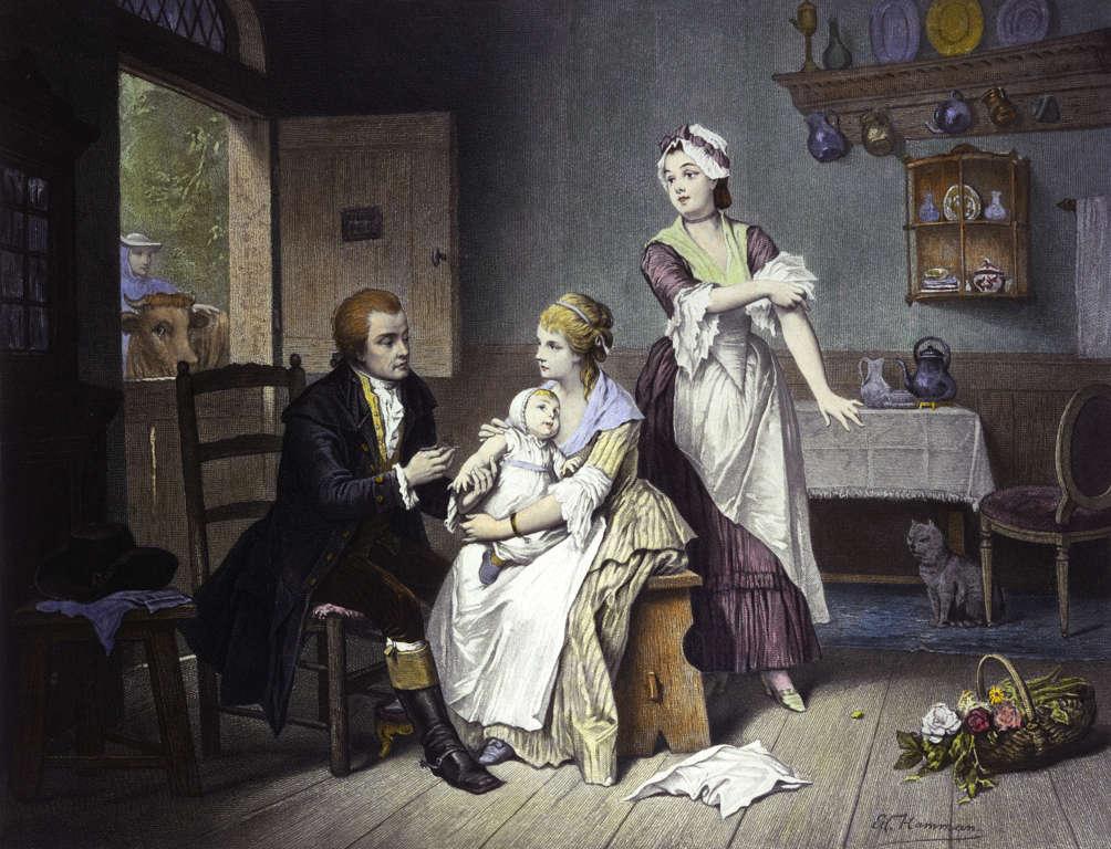 Edward Jenner očkuje